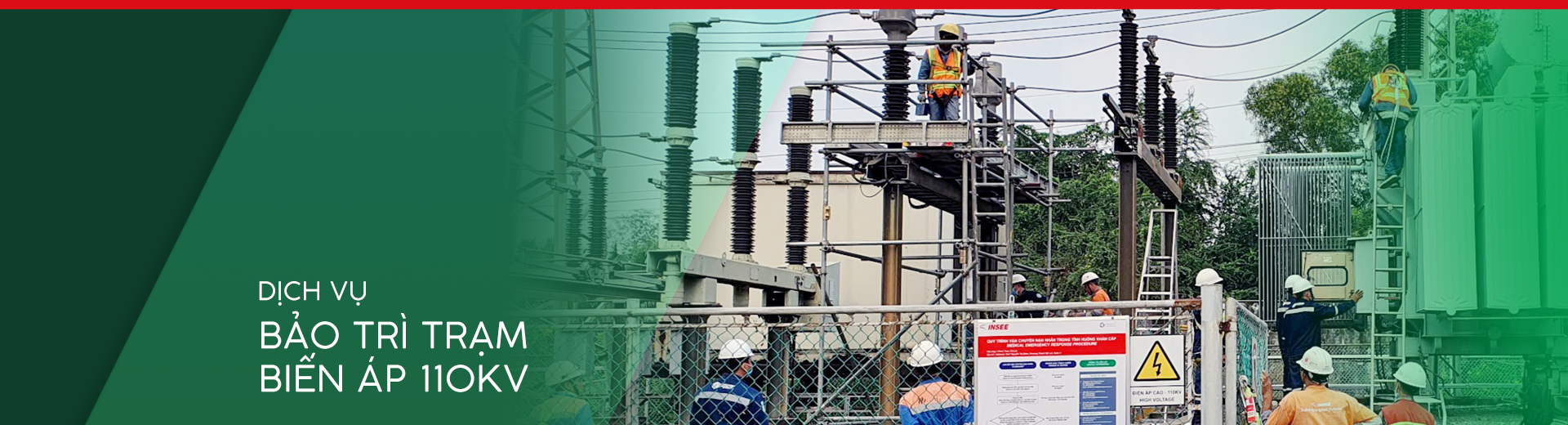 Cover dịch vụ bảo trì trạm biến áp 110kV